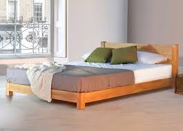 bedroom atmosphere with low pad bed furniture