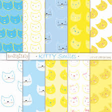commercial wrapping paper cats printable gift wrapping paper kitten digital