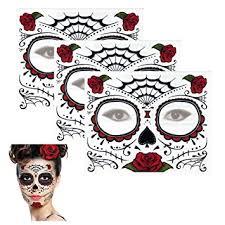 amazon com sugar skull temporary design 3 kits