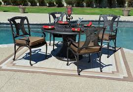 patio table with 4 chairs amalia 4 person luxury cast aluminum patio furniture dining set 4