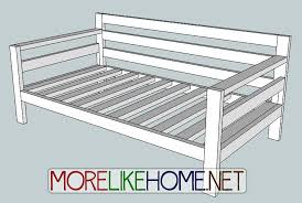diy daybed plans more like home day 31 build a simple modern sofa with 2x4s