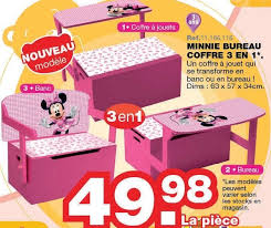 maxi bureau maxi toys promotion minnie bureau coffre 3 en 1 minnie mouse