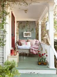 painted deck ideas porch shabby chic style with green floor front