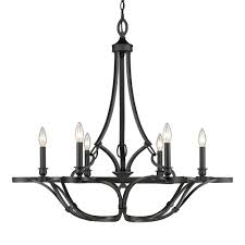 progress lighting heritage collection 6 light forged bronze
