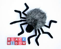 black widow spider halloween plush plushie spider stuffed