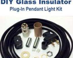Pendant Lighting Parts by Diy Glass Insulator Pendant Light Kit Diy Insulator Lighting