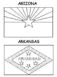 printable state flag coloring pages kids stuff pinterest