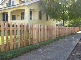 wood picket fence u2013 pioneer fence company