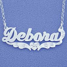 custom made name necklace sterling silver personalized name necklace pendant heart bottom