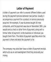 payment letter format receipt of payment letter 7 exles in word pdf