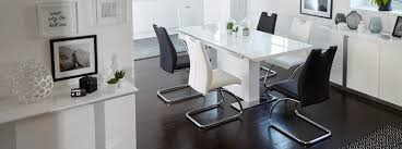 Dfs Dining Tables And Chairs Monochrome Fixed Dining Table U0026 Set Of 4 Chairs Dfs