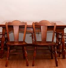 consider h willett inc cherry dining table and chairs ebth