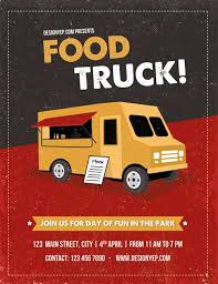 download food truck free flyer psd template