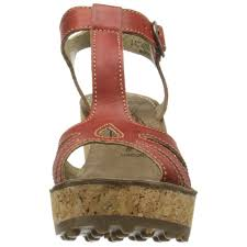 fly london gold cork wedge sandal red fly london from
