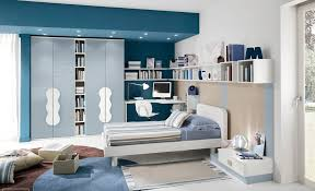 extraordinary navy blue accent for kids bedroom design features