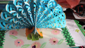 Free Kirigami Card Templates Peacock Pop Up Card Youtube