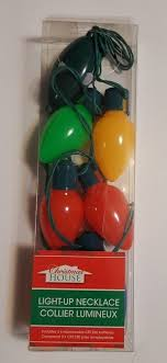 flashing christmas light bulbs light up necklace holiday bulbs 6 flashing christmas lights