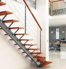 limon d escalier en bois escalier limon central acier sur mesure escaliers escaliers sur