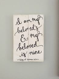 i am my beloved rustic wedding verse sign i am my beloved s and my