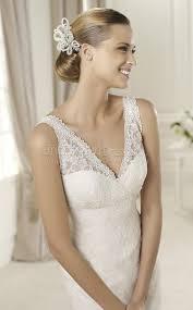 turmec v neck lace wedding dresses