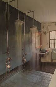 double shower with no walls to keep clean i love that you can see double shower with no walls to keep clean i love that you can see the