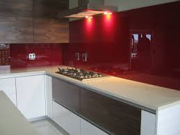 red glass for kitchen splashbacks and bathroom splashbacks