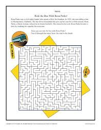 ride the bus with rosa parks black history month worksheets