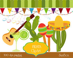 cartoon margarita fiesta clipart cinco de mayo party lime green cactus