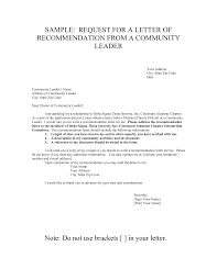 asking for a letter of recommendation sample format