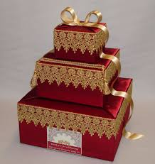 indian wedding card box any colors