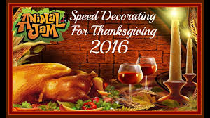 animal jam speed decorating for thanksgiving 2016