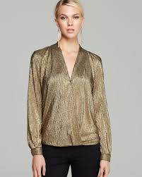 metallic blouse lyst sam lavi blouse wynter metallic in metallic