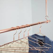 Hanging Clothes Rack From Ceiling Copper Clothes Hanging Rail By Proper Copper Design