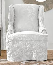 damask chair sure fit matelasse damask slipcover collection slipcovers for