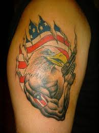 rico american eagle with gun tattoo