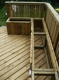 how to build deck bench seating building a wooden deck over a concrete one exercise rooms