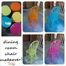 spray painted fiesta chairs for the dining room table dining