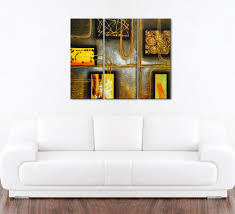 abstract chocolate oil painting 3 piece artwork