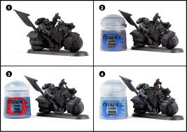 tutorial how to paint dark angels ravenwing from dark vengeance
