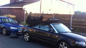how to fix my roof on audi a4 convertible youtube