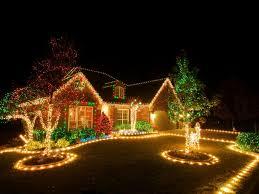 Snowflake Lights Outdoor Christmas Blue And White Outdoor Christmas Lights Lighting