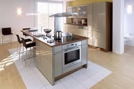 plan central cuisine avec ilot central plaque de cuisson