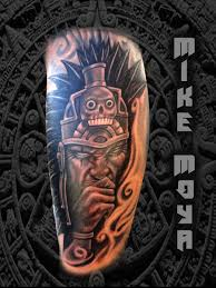 mike moya tattoos aztec by mikemoyatattoos on deviantart
