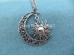 silver moon necklace pendants images 20pcs lot sun necklace moon necklace retro bronze sun and jpg