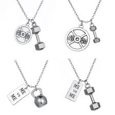 silver necklace types images Motivational gym necklace 4 types vow strength jpg