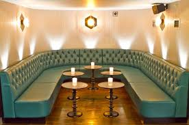 Uplight Table L Leather Banquette Seating Together With U Shape Booth Design And