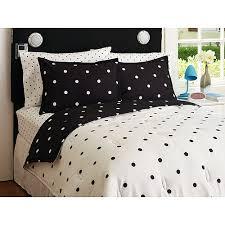 Polka Dot Bed Set Your Zone Reversible Comforter And Sham Walmart