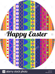 easter eggs with a aztec and mexican ornament stock vector