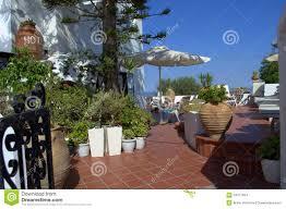 santorini hotel exterior decoration greece stock images image