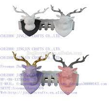 Goat Home Decor White Goat Head 2016 Popular Best Selling Resin Gold Horn White